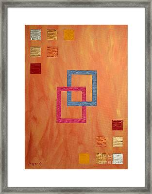 Framed Print featuring the painting Decorative Squares by Sascha Meyer