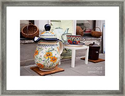 Decorative Traditional Earthenware Framed Print