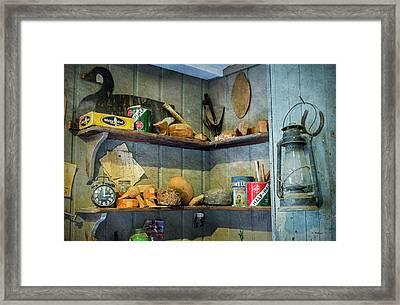 Decoy Workshop Shelves Framed Print