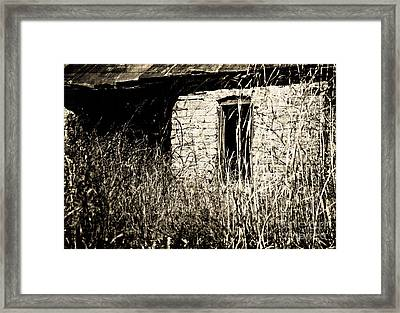 Decrepit With Window Framed Print by Fred Lassmann