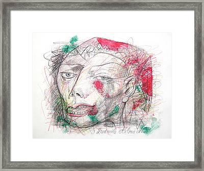 Dedicated To Michael Jackson Framed Print by Ludmila Kalmaeva