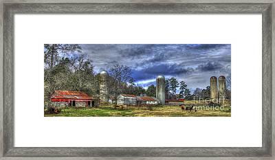 Dedication Boswell Dairy Farm Greene County Ga Framed Print by Reid Callaway