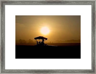 Dedication Of A Farmer Framed Print