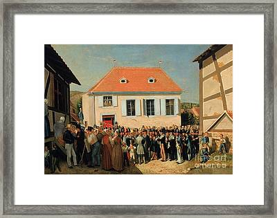 Dedication Of A Synagogue In Alsace' Framed Print by Celestial Images