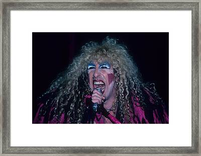 Dee Snider Of Twisted Sister Framed Print