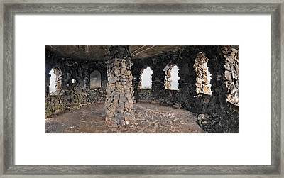 Dee Wright Observatory Interior Framed Print by Leland D Howard