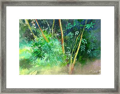 Deep Framed Print by Anil Nene