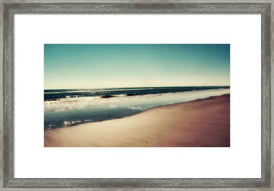 Deep Blue Framed Print by Amy Tyler