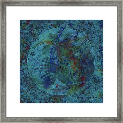 Deep Blue Fantasies Framed Print