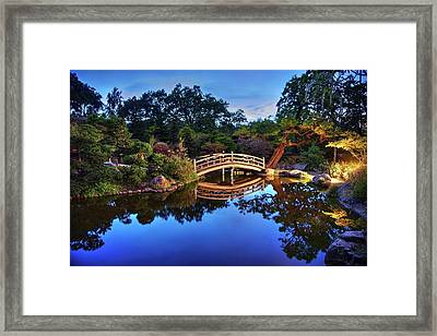 Framed Print featuring the photograph Deep Blue, I Am Thinking Of You by Peter Thoeny