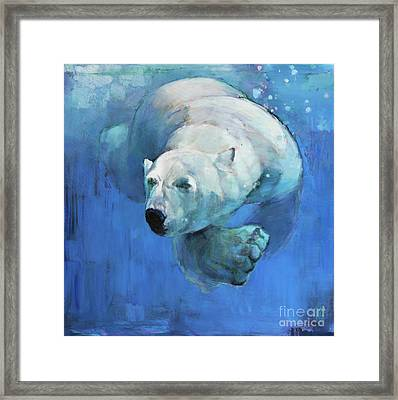 Deep Blue Framed Print by Mark Adlington