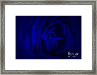 Deep Blue Passion Framed Print by Krissy Katsimbras