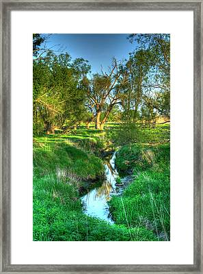 Deep Blue Rift Framed Print