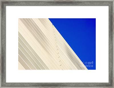Deep Blue Sky And Office Building Wall Framed Print