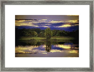 Deep Blue Sky Framed Print