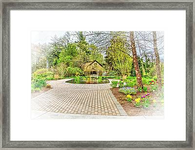 Deep Cut Gardens And Koi Pond Framed Print by Geraldine Scull