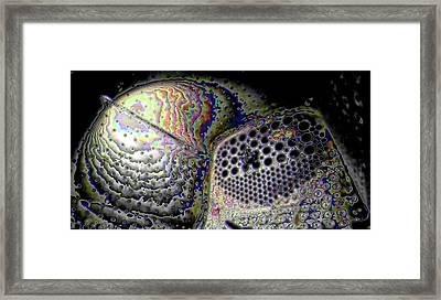 Framed Print featuring the digital art Deep Dark by Ron Bissett