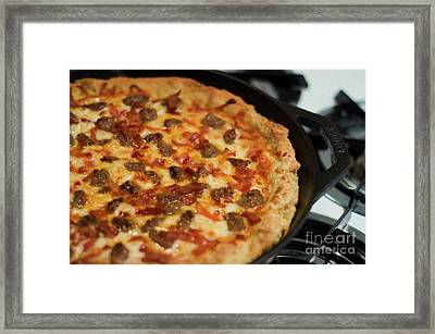 Framed Print featuring the photograph Deep Dish Pizza 002 by Andee Design