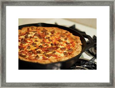 Framed Print featuring the photograph Deep Dish Pizza 003 by Andee Design
