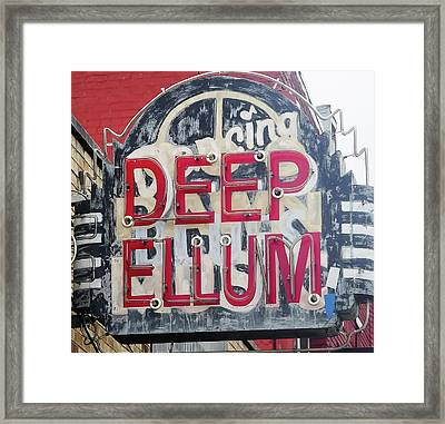Deep Ellum Dallas Texas Framed Print