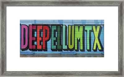 Deep Ellum Wall Art Framed Print
