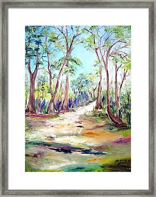 Deep Forest Framed Print by Doris Cohen