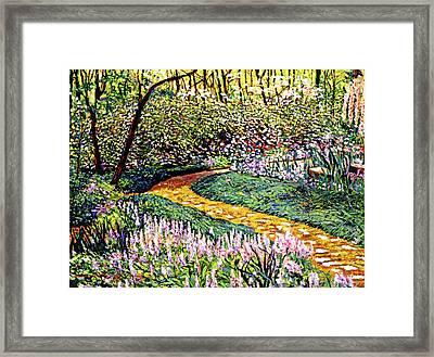 Deep Forest Garden Framed Print by David Lloyd Glover