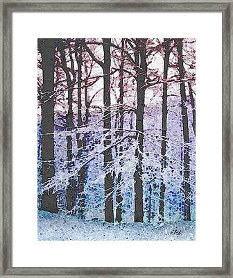 Deep Freeze Framed Print