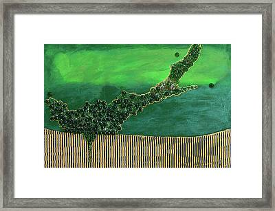 Deep Impact Framed Print by Donna Blackhall