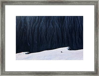 Deep In Canyon Framed Print