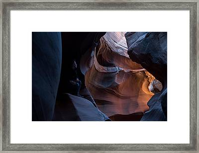 Deep In The Canyon Framed Print