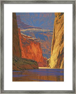 Deep In The Canyon Framed Print by Cody DeLong