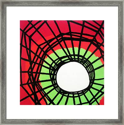 Deep In The Disturbance There May Be Light Framed Print by Oliver Johnston
