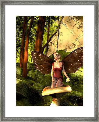 Deep In The Forest Framed Print by Emma Alvarez