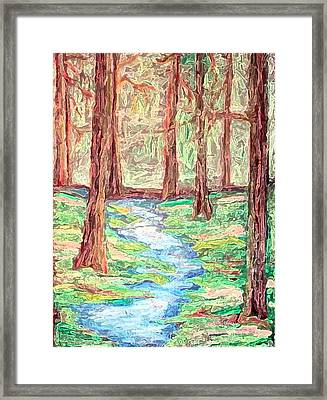 Deep In The Forest Framed Print by Margie  Byrne