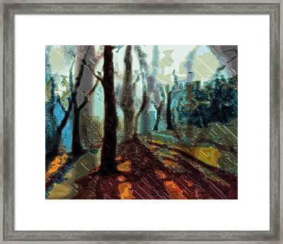 Deep In The Forest Framed Print by Sylvia  Pekarek