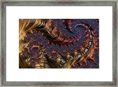 Deep In The Spirals Framed Print