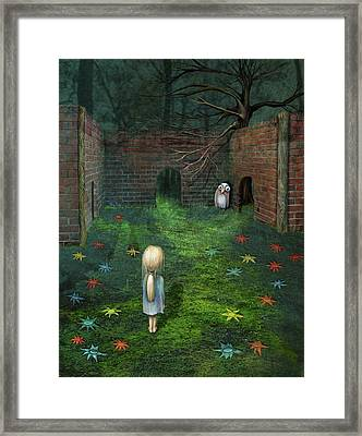 Deep In The Woods Framed Print by Catherine Swenson