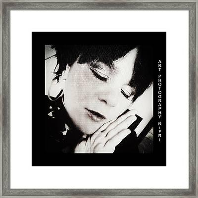 Inside Of Me - Tief In Mir Framed Print by Nicole Frischlich