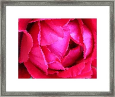 Deep Inside The Rose Framed Print by Kristin Elmquist