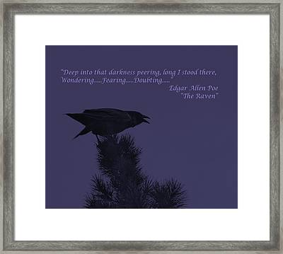 Deep Into That Darkness Peering Framed Print