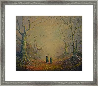 Deep Into The Forest Framed Print
