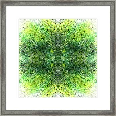 Deep Intuitive Understanding Of The Akashic Records #1364 Framed Print by Rainbow Artist Orlando L aka Kevin Orlando Lau