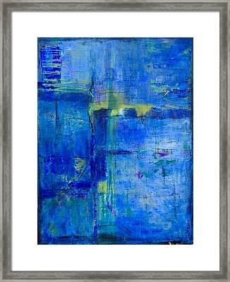 Deep Lagoon Framed Print