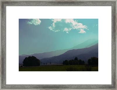 Deep Layers Framed Print