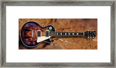 Deep Les Paul Guitar Framed Print