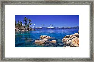 Deep Looks Panorama Framed Print by Vance Fox
