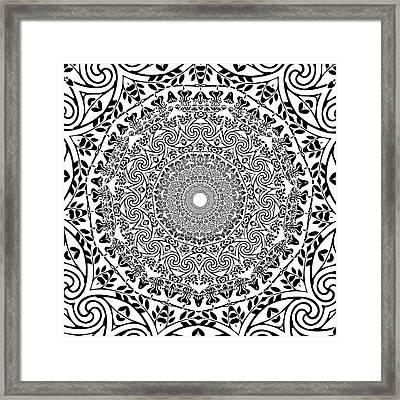 Deep Mandala  Framed Print by Latex Color Design