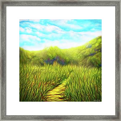 Deep Meadow Tranquility Framed Print