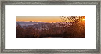 Deep Orange Sunrise Framed Print